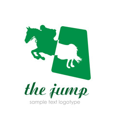 Logo horse, the jump # Vector