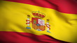 Spanish Flag HD. Looped.