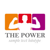 Logo powerful man # Vector