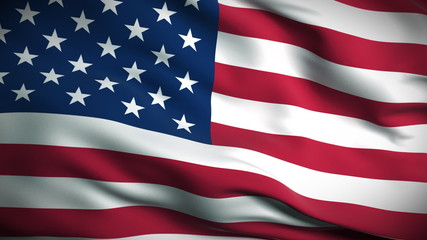 USA Flag HD. Looped.