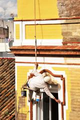 Riesgos laborales, pintor de fachadas