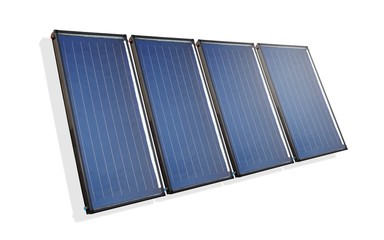 Multiple isolated solar collectors
