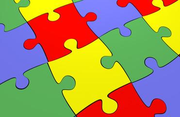 set of jigsaw puzzle background