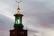 Stockholm city-hall tower.