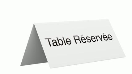 table réservée 3D 2