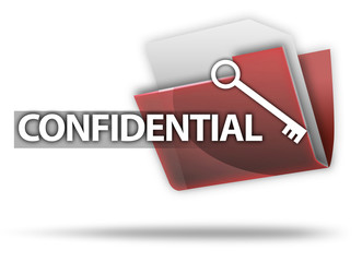 """3D Style Folder Icon """"Confidential"""""""