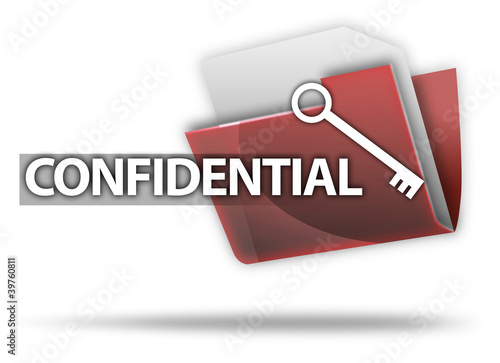 "3D Style Folder Icon ""Confidential"""
