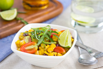 Sweetcorn and rocket salad