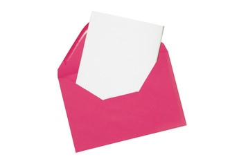 Plain card with envelope