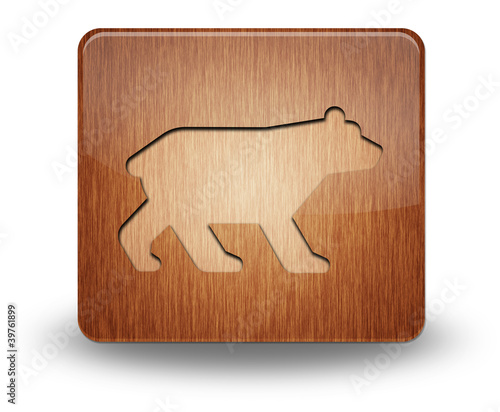 "Wooden Icon ""Bear"""