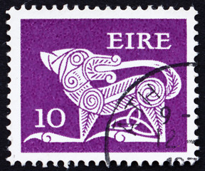 Postage stamp Ireland 1969 Dog from Ancient Brooch