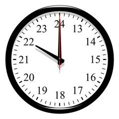Horloge post meridiem - 22 heure