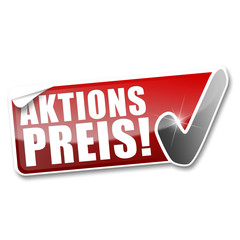 Aktionspreis! Button, Icon