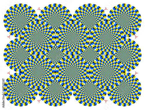 Optical illusion Spin Cycle with snakelike (EPS)