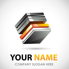 Logo Business design 3D