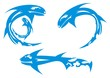 Vector blue shark