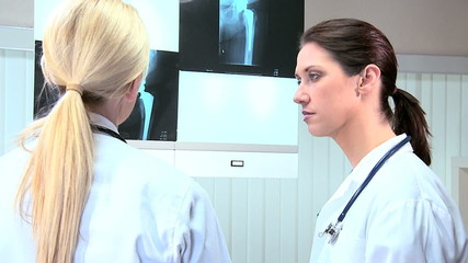 Female Doctors in Hospital Radiology