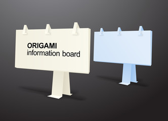 Origami information boards