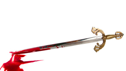 sword with blood