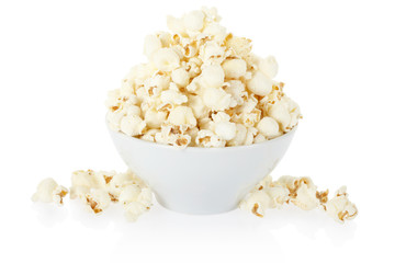 Popcorn bowl isolated, clipping path included