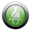 "Green Metallic Orb Button ""Seat Belt"""