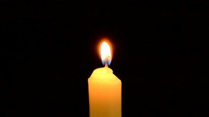 Kerze ausblasen