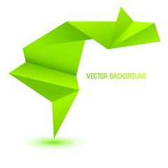 beautiful green origami speech & think background