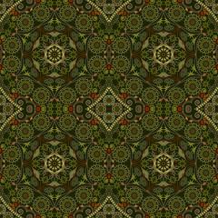 Abstract Seamless Kaleidoscope Pattern