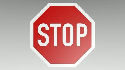Verkehrszeichen Stop, animiert