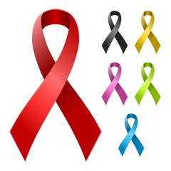 Ribbon in various colors