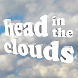 Head in the Clouds 3D Words in Cloudy Sky