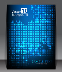 Abstract pixel background. Vector