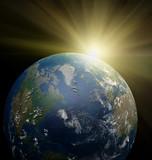 Fototapete Raum - Sonne - Sonnenauf- / untergang