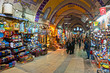 Leinwanddruck Bild - Grand bazaar shops in Istanbul.