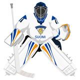 Team Finland hockey goalie poster