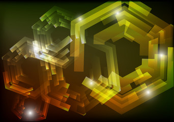 Mechanical abstract background
