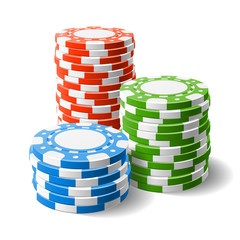 Casino chips stacks