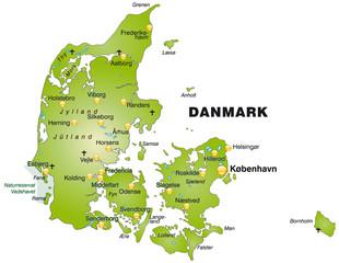 Übersichtskarte von Dänemark