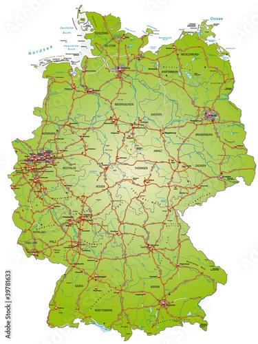 autobahnkarte von deutschland stockfotos und lizenzfreie vektoren auf bild 39781633. Black Bedroom Furniture Sets. Home Design Ideas