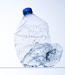 used polyethylene bottle of water