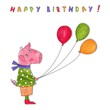 Happy Birthday. Greeting card