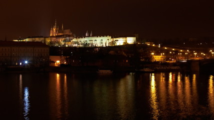 timelapse of Prague castle