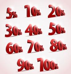 Sale percents. Vector