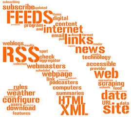 icona RSS con tag cloud