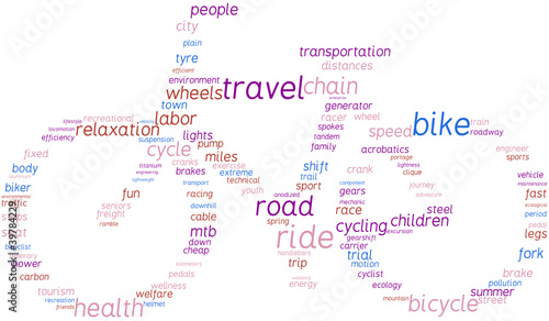 bicicletta - tag cloud