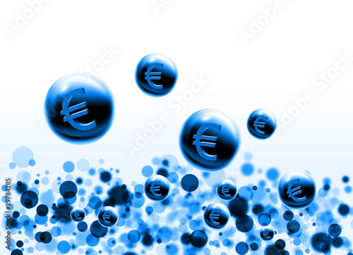 blue euro bubbles