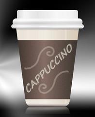 Cappuccino container.