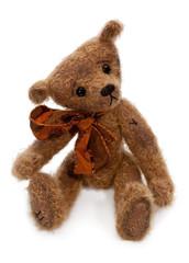 Teddy Bear Over White
