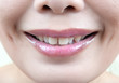 Close up Asian Woman mouth.