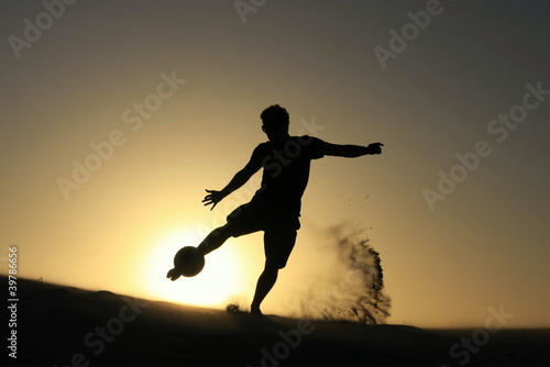 Leinwandbild Motiv Football